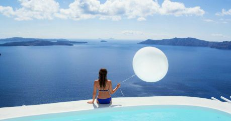 Santorini - on the edge of the Caldera - Cyclades Holidays in Greece, Infinity pool, Luxury Villas