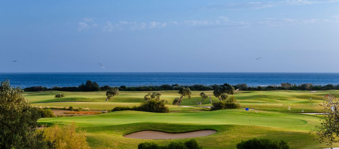 View into the sea - San Domenico Golf - 18-hole course among the olive groves and Mediterranean