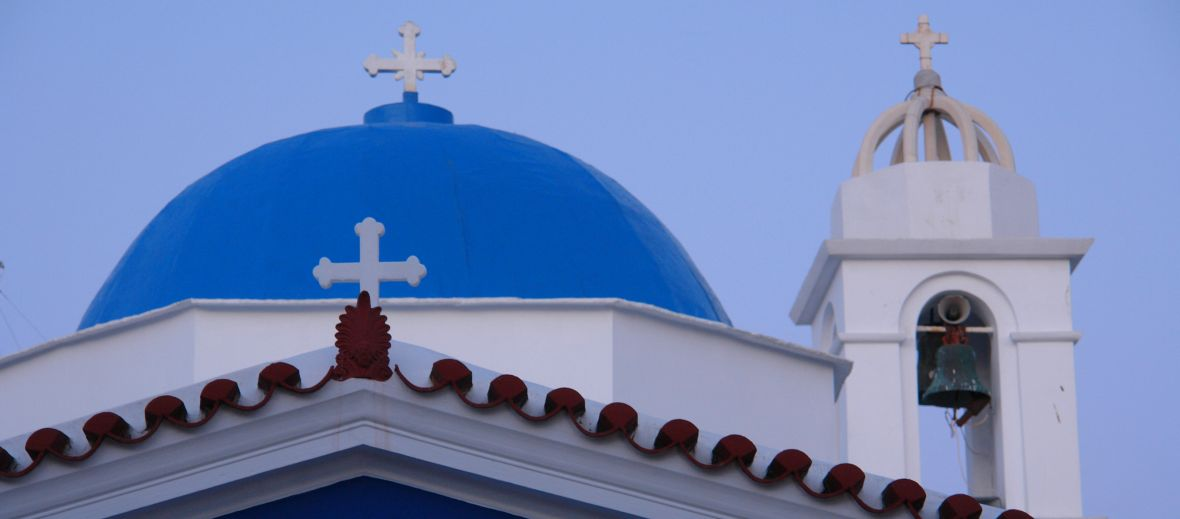 Famous Wedding churches on the Greek island of Tinos -