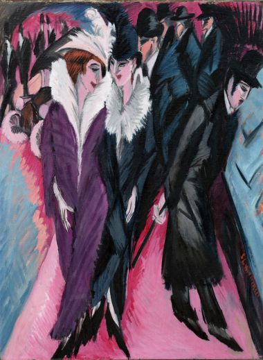 Ernst Ludwig Kirchner Street, Berlin, 1913 Oil on canvas, 120.5 x 91 cm The Museum of Modern Art, New York, purchase, 1939 © 2017. Digital image, The Museum of Modern Art, New York/Scala, Florence