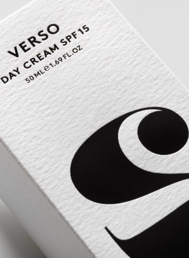 Packaging design : Verso, the cult Swedish skincare developed by Lars Fredriksson minimizes skin exposure to unnecessary ingredients
