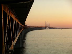 Øresund, Bridge, Copenhagen, Denmark - Designed by architect Georg K.S. Rotne