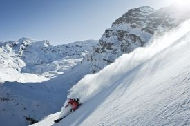 Skiing on Mount Titlis in Engelberg Switzerland
