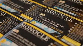 Monocle cover - a global affairs and lifestyle magazine, founded by Tyler Brûlé