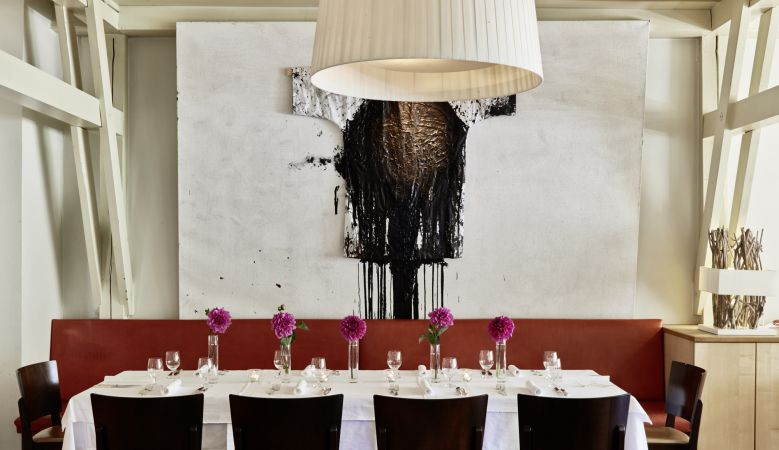 Private dining at HECHT Restarautn at the Boutique art hotel, Der Seehof Goldegg, Austria