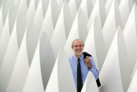 Renzo Piano, photo on white background.