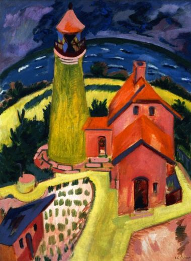 Ernst Ludwig Kirchner The Lighthouse of Fehmarn, 1912 Oil on canvas, 119.5 x 91 cm Carnegie Museum of Art, Pittsburgh: Patrons Art Fund  Photo © 2017 Carnegie Museum of Art, Pittsburgh