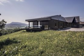 Breac.House Small design hotel in blackened Larch wood in County Donegal, Ireland
