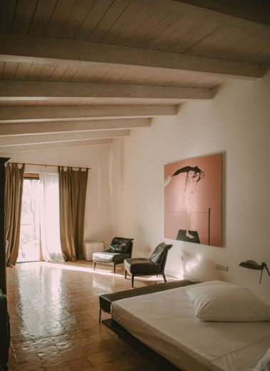 Design Bedroom of Il Cannito Boutique Guesthouse in Capaccio-Paestum, Cilento, Italy