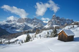Alta Badia snow village Dolomites, ski, outdoors, white line hotels
