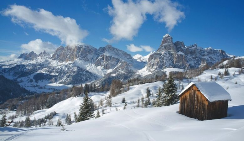 Beautiful alpine village in Alta Badia, ski, adventure, outdoors, Alps, South Tyrol