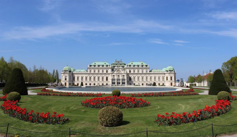 Belvedere Palace Vienna Asutria  - home to Egon Schiele - Pathways to a Collection - Artist Vienna