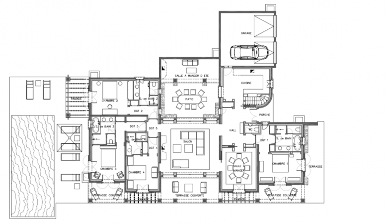 Spacious floorplan of vacation villa in Ramautelle serviced by La Reserve Hote