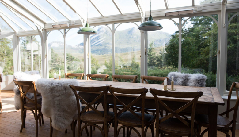 Private dining at the Kinloch Boutique Guesthouse & Lodge in Sutherland - Scottish Highlands