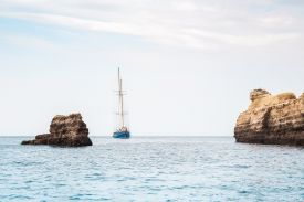Photo by Bruno Martins, ship in the sea, Vilamoura, Quarteira, Algarve, Portugal