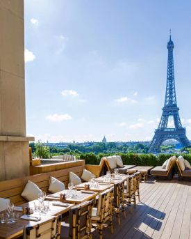 Cafe de l'Homme, Paris, Eiffel tower