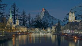 Zurmatt Switzerlands newest Ski and Culture winter resort, old town Zurich meets the Matterhorn