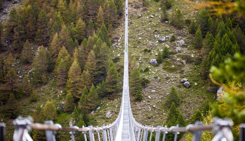Charles Kuonen Suspension Bridge Zermatt, Switzerland