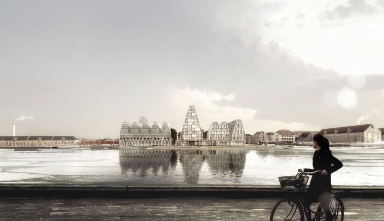 Installations at the new Papirøen, Paper Island in the harbour of Copenhagen, Demnark, new visitor artistic attraction