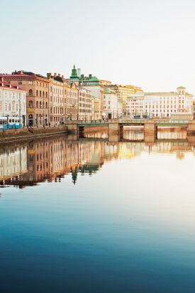 Waterfront of old town Gothenburg, sweden's second city