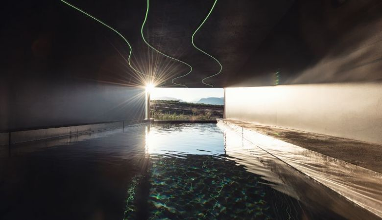 Indoor Swimming pool Das Wanda boutique hotel, in Caldaro/Kaltern, South Tyrol