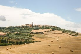 Pienza - UNESCO city of Heritage in Tuscany in Italy