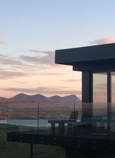 Sun set over the Horn Head Peninsula from Breac.House, a small design guesthouse hotel in Ireland