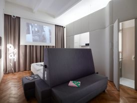 in Hotel Altstadt Vienna's room 66, by As part of our Hotel Altstadt Vienna interior design series, peek into the filmic world of architecturally trained movie buff, Gregor Eichinger.