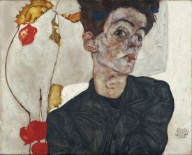 Egon Schiele - Artist Self-Portrait with Physalis Vienna