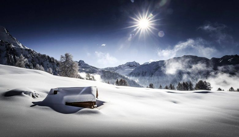 Valais Cross-Country Ski, snow in the alps, Switzerland