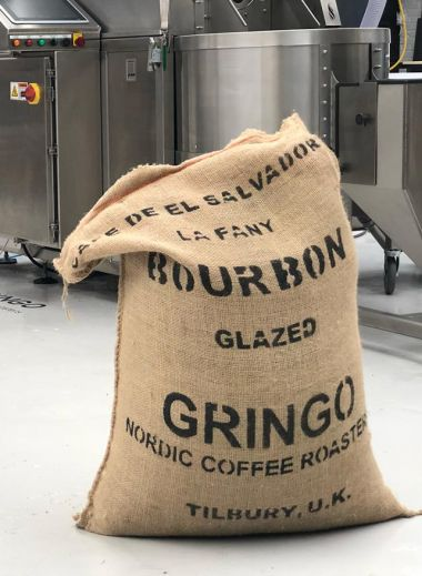Gringo Nordic Coffee, Beans in sacks ready for roasting
