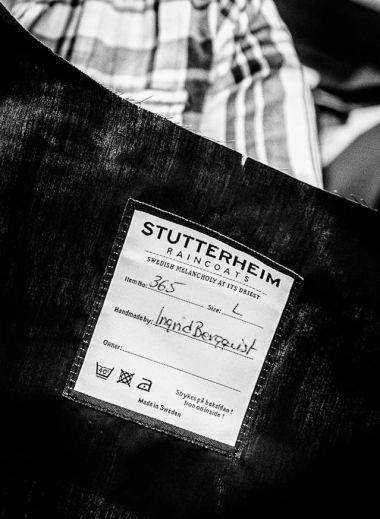 Swedish Aquaphilic brand Stutterheim of Stockholm, raincoats