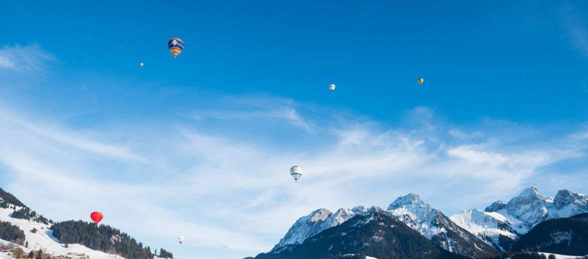 Swiss Alps - hot air ballooning acorss the alps