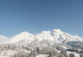 winter in Leogang and the Leoganger Steinberge, Austrian alps in Pinzgau
