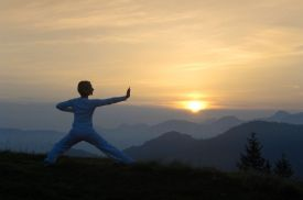 yoga at the Hotel Hubertus Alpin Lodge and Spa in Allgäu, Germany, alps, mountains