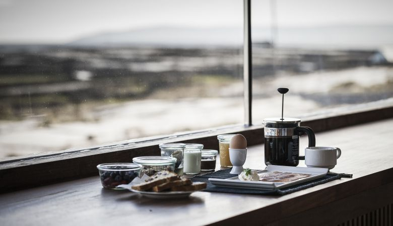 Views out fo the Bedrooms of the design hotel, Inis Meáin Restaurant & Suites in the Aran Islands, Ireland