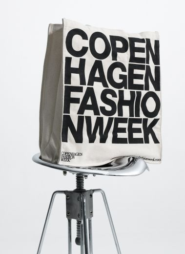Copenhagen Fashion Week, a photo of a bag as a sign