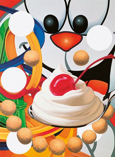 Loopy, 1999 Oil on canvas 274.3 x 201.3cm Bill Bell Collection © Jeff Koons
