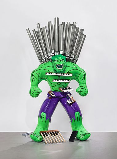 Hulk (Organ), 2004-2014 Polychromed bronze and mixed media 252.7 x 131.4 x 71.8 cm Edition no. 2/3 Gagosian Gallery © Jeff Koons