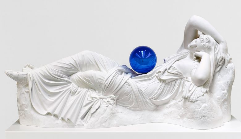 Gazing Ball (Ariadne), 2013 Plaster and Glass 112.6 x 238.4 x 93cm Edition no. 3/3 Monsoon Art Collection © Jeff Koons