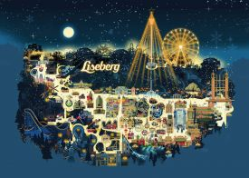 Liseberg Park Christimas Market in Gothenburg  - a winter wonderland amusement park