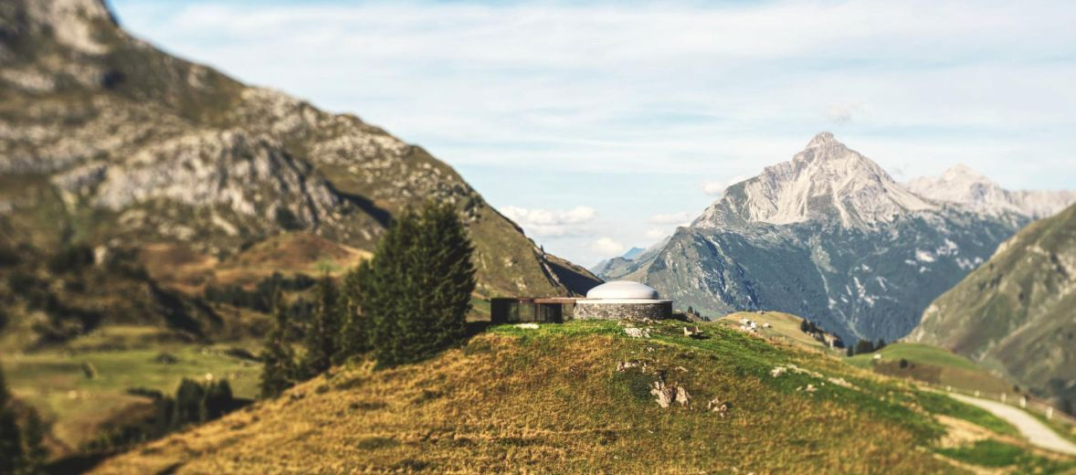 Lech in Austria Mountains, Austria Alps, Arlberg, The Art of Environment: James Turrell's Skyspaces - Lech, Austia