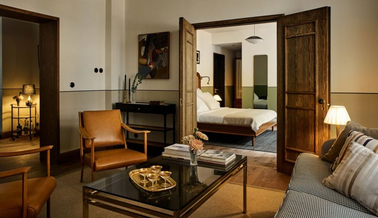 Curated interiors of boutique hotel Sanders Copenhagen, Denmark's newest boutique Hotel, a member of White Line Hotels