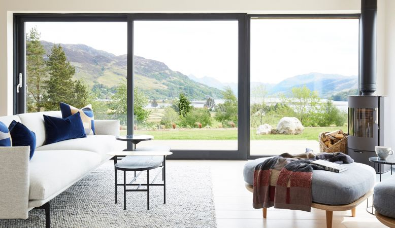 Designer Interiors of this modern Scottish holiday home called 57 Nord in Wester Ross, Highlands Scotland