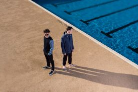 Kestin Hare - The Scottish menswear designer based in Edinburgh | Fashion Models by swimming pool