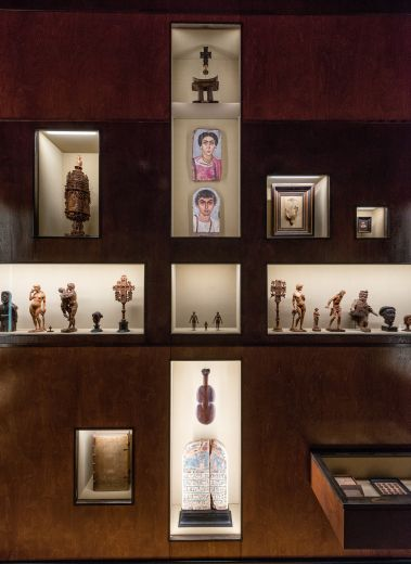 Wes Anderson and partner Juman Malouf create the exhibition 'Spitzmaus Mummy in a Coffin and other Treasures' at the Kunsthistorisches Museum in Vienna.