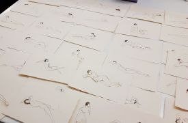 Artist Kirsty Buchanan's nude sketches as seen in Sanders Copenhagen