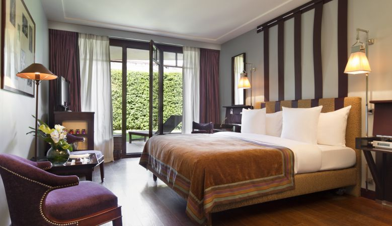 King Superior Double Room at La Reserve Hotel Geneva created by Jacques Garcia