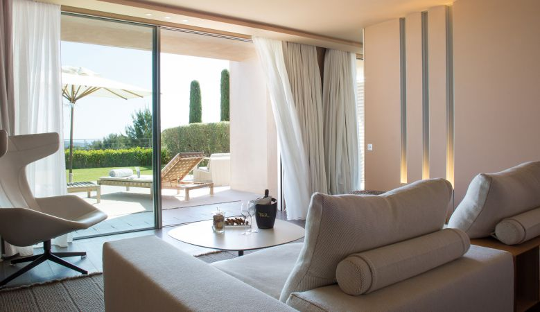 Designer Junior Suite at Luxury Hotel La Réserve Ramatuelle, South of France