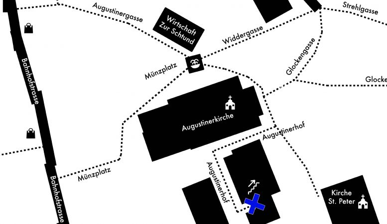 Map location of the Garage Widder Bar Zurich